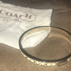 Sterling silver Coach bangle